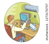 businessman dealing with... | Shutterstock .eps vector #1273170757
