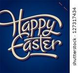 happy easter hand lettering  ... | Shutterstock .eps vector #127317434