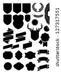 crest  flags  banners | Shutterstock .eps vector #127317551