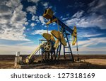 operating oil well profiled on...