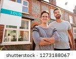 portrait of two men standing... | Shutterstock . vector #1273188067