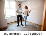 couple buying house for first...   Shutterstock . vector #1273188094