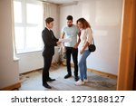 couple buying house for the... | Shutterstock . vector #1273188127