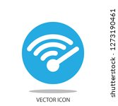 wi fi speed icon vector | Shutterstock .eps vector #1273190461