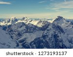 spectacular winter mountain... | Shutterstock . vector #1273193137