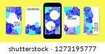 stories template design. tropic ... | Shutterstock .eps vector #1273195777