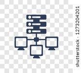 edge computing icon. trendy... | Shutterstock .eps vector #1273204201