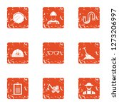 repairman icons set. grunge set ... | Shutterstock . vector #1273206997
