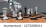 white humanoid robot hand with... | Shutterstock . vector #1273208311