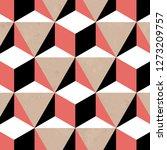 Seamless Geometric Black White...