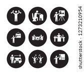 9 vector icon set   exercising  ... | Shutterstock .eps vector #1273210954
