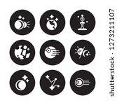 9 vector icon set   eclipse ... | Shutterstock .eps vector #1273211107