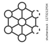 complex molecule icon. outline... | Shutterstock . vector #1273212934