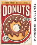 donuts promotional retro poster ... | Shutterstock .eps vector #1273217551
