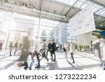blurred business people at a... | Shutterstock . vector #1273222234