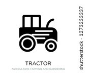 tractor icon vector on white... | Shutterstock .eps vector #1273233337