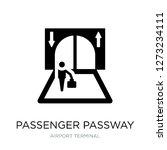 passenger passway icon vector... | Shutterstock .eps vector #1273234111