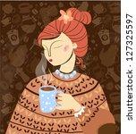 coffee background | Shutterstock .eps vector #127325597