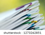 close up pile of unfinished... | Shutterstock . vector #1273262851