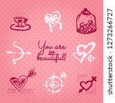 valentines day card or... | Shutterstock .eps vector #1273266727