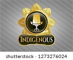 gold shiny badge with office... | Shutterstock .eps vector #1273276024