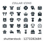collar icon set. 30 filled... | Shutterstock .eps vector #1273282684