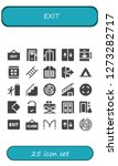 exit icon set. 25 filled exit... | Shutterstock .eps vector #1273282717