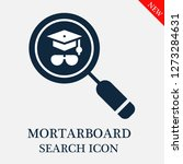 mortarboard search icon.... | Shutterstock .eps vector #1273284631