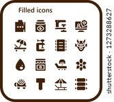 filled icon set. 16 filled...   Shutterstock .eps vector #1273288627