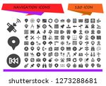 navigation icon set. 120... | Shutterstock .eps vector #1273288681