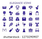 elegance icon set. 30 filled... | Shutterstock .eps vector #1273290907