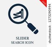 slider search icon. editable...