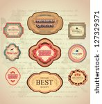 vintage and retro labels old... | Shutterstock .eps vector #127329371