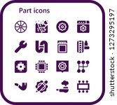 part icon set. 16 filled part...   Shutterstock .eps vector #1273295197