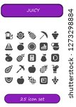 juicy icon set. 25 filled... | Shutterstock .eps vector #1273298884