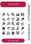 discovery icon set. 25 filled...   Shutterstock .eps vector #1273308367