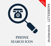 phone search icon. editable...