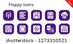 floppy icon set. 10 filled... | Shutterstock .eps vector #1273310521