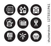 9 vector icon set   book reader ... | Shutterstock .eps vector #1273311961