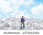 young man in casual clothing... | Shutterstock . vector #1273313161