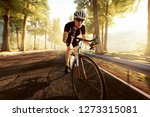 cyclist on a mountain road | Shutterstock . vector #1273315081