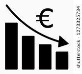 glyph euro recession pixel... | Shutterstock .eps vector #1273325734
