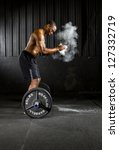 young athlete trains with... | Shutterstock . vector #127332719