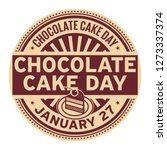 chocolate cake day  january 27  ... | Shutterstock .eps vector #1273337374