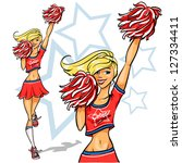 active,american,athletic,attractive,beautiful,blonde hair,cartoon,cheer,cheerful,clip art,competition,cute,friendship,girl,graphic