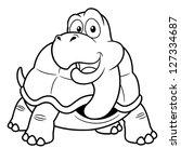 Illustration Of Cartoon Turtle  ...
