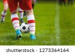 detail soccer background. close ...   Shutterstock . vector #1273364164