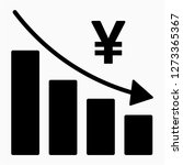glyph yen recession pixel... | Shutterstock .eps vector #1273365367