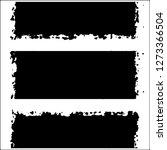 set of grunge textures on white ... | Shutterstock .eps vector #1273366504