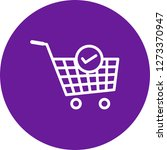 vector verified cart items icon  | Shutterstock .eps vector #1273370947